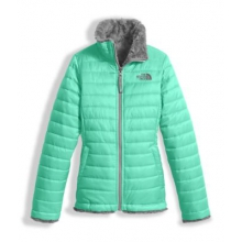 Girl's Reversible Mossbud Swirl Jacket by The North Face in Kirkwood Mo