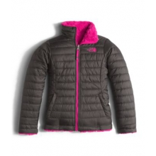 Girl's Reversible Mossbud Swirl Jacket by The North Face in Plymouth Ma