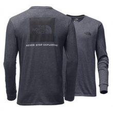 Men's L/S Red Box Tee by The North Face in Montgomery Al