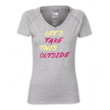 Women's S/ Take This Outside Reaxion V-Nck Tee