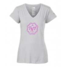 Women's S/S TNF Logo V-Neck Tri-Blend Tee by The North Face