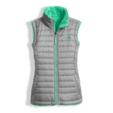 Girl's Reversible Mossbud Swirl Vest by The North Face