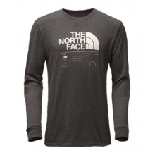 Men's L/S Logo Stack Tri-Blend Tee by The North Face in Okemos Mi
