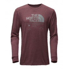 Men's L/S Logo Stack Tri-Blend Tee by The North Face