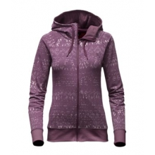 Women's French Terry Lace Print Fz Hoodie