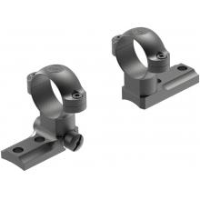 STD Remington 700 RVF 2-pc Base/1-in Medium Rings Matte by Leupold