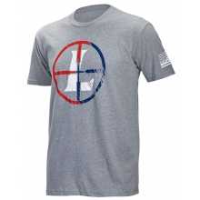 SS USA Reticle Tee Gray Heather Med by Leupold