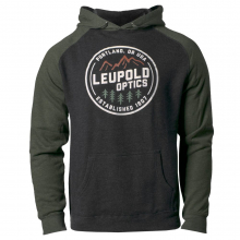 Leupold Established 1907 Hoodie - Charcoal/Green - 2XL