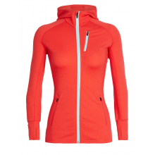 Women's Quantum LS Zip Hood by Icebreaker in Colorado Springs CO
