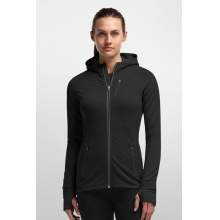 Women's Quantum LS Zip Hood by Icebreaker in Richmond Bc