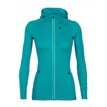 Women's Quantum LS Zip Hood by Icebreaker in St Albert Ab
