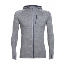 Mens Quantum Long Sleeve Zip Hood by Icebreaker