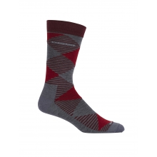 Men's LifeStyle Fine Gauge Ultra Light Crew Argyle by Icebreaker