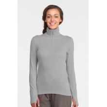 Women's Tech Top Long Sleeve Half Zip by Icebreaker in Medicine Hat Ab