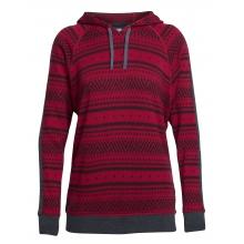 Women's Meadow LS Hood Icon Fairisle by Icebreaker