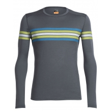 Men's Oasis LS Crewe Coronet Stripe by Icebreaker in Penticton Bc