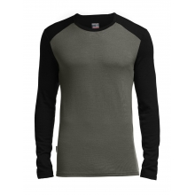 Men's Tech Top Long Sleeve Crewe by Icebreaker in Red Deer Ab