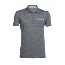 Mens Quattro II Short Sleeve Polo by Icebreaker