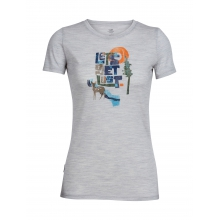 Womens Tech Lite Short Sleeve Crewe Let's Get Lost by Icebreaker