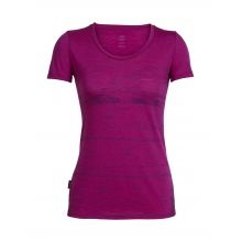 Womens Tech Lite Short Sleeve Scoop Porto Isle by Icebreaker