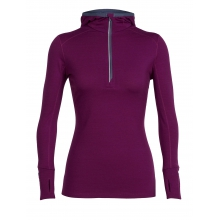 Women's Rush LS Half Zip Hood by Icebreaker