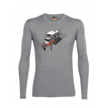 Men's Oasis LS Crewe Snow Bug by Icebreaker