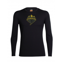 Men's Oasis LS Crewe Ski Crest by Icebreaker in Medicine Hat Ab