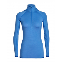 Women's Fluid Zone LS Half Zip Hood by Icebreaker in Canmore Ab