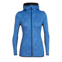 Women's Away LS Zip Hood Showers by Icebreaker in Rancho Cucamonga Ca