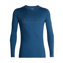 Men's 200 Oasis Deluxe Raglan LS Crewe Single Line Ski by Icebreaker in Revelstoke BC