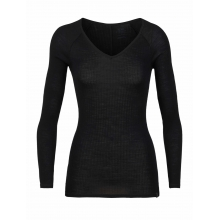 Women's Luxe Rib LS V by Icebreaker in Glenwood Springs CO