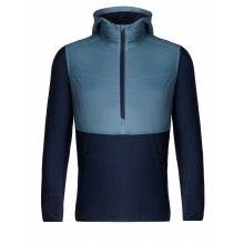 Men's Descender Hybrid LS Half Zip Hood by Icebreaker
