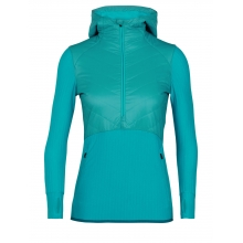 Women's Descender Hybrid LS Half Zip Hood by Icebreaker in Huntsville AL
