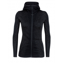 Women's Elemental LS Zip Hood Crystal by Icebreaker in Fort Collins Co
