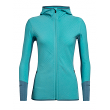 Woman's Descender LS Zip Hood by Icebreaker