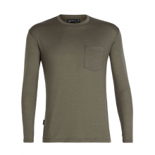 Mens Tech Lite LS Pocket Crewe