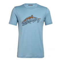 Mens Tech Lite SS Crewe Tetons Salmon by Icebreaker in Crested Butte Co