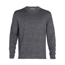 Men Flaxen LS Crewe Sweater by Icebreaker in Chelan WA