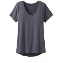 Women's Foundation S/S V Neck Top by Prana in Golden Co