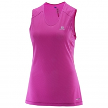 Womens Trail Runner Sleeveless Tee by Salomon in Rocky View No 44 Ab