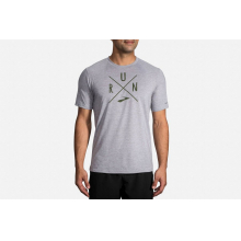 Men's Distance Graphic T-Shirt by Brooks Running in Cedar Falls IA