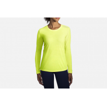Women's Distance Long Sleeve Nightlife by Brooks Running in Mystic Ct