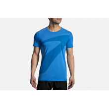 Distance Graphic Tee by Brooks Running in Mystic Ct