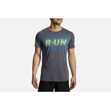 Men's Distance Graphic Tee by Brooks Running in Woodland Hills Ca
