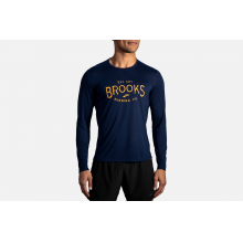 Men's Distance Graphic Long Sleeve by Brooks Running
