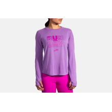 Women's Distance Graphic Long Sleeve by Brooks Running