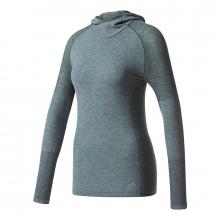 Women's Primeknit Wool Long-Sleeve Hooded Tee by Adidas