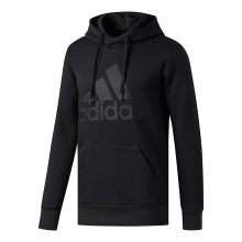 adidas Men's Essentials Cotton Pullover Logo Hoodie by Adidas