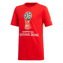 Kids FIFA World Cup Emblem Graphic Tee by Adidas