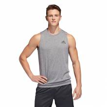 Men's Freelift Sport Heather Sleeveless Tee by Adidas